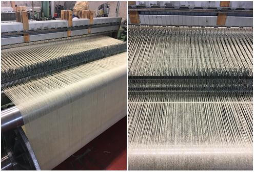 Weaving on a loom - twool, calders, british wool, whiteface dartmoor wool