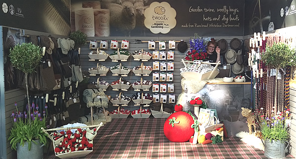 Twool - twool stand at Chelsea Flower Show Garden Shows Season Summer 2018