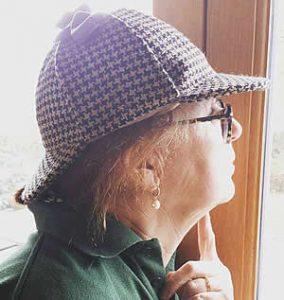 Kim in her deerstalker hat - twool