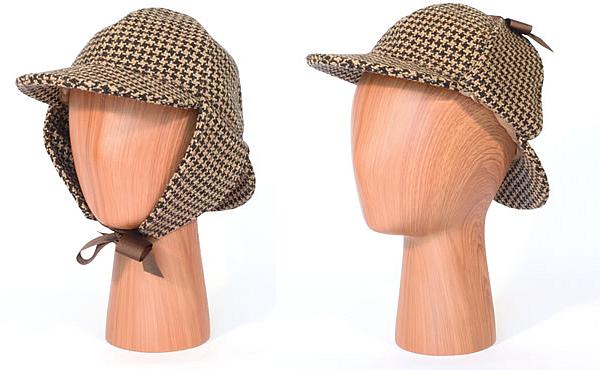 Deerstalker hat ear flaps - twool